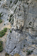 Rock Climbing Photo: Brett and Christian on the first pitch of Squawstr...
