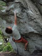 Rock Climbing Photo: Jim V4, Riverside LCC summer 2008