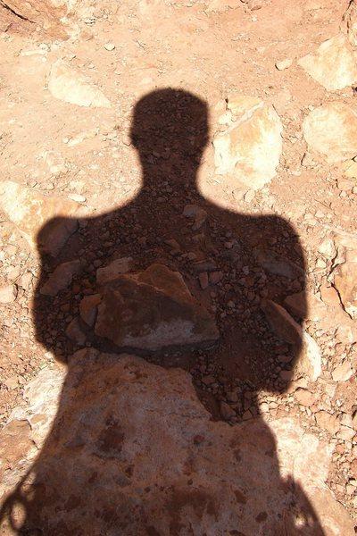 Rock Climbing Photo: Shadow of Da man.