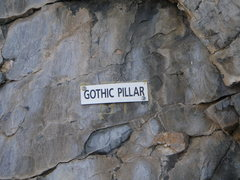 Rock Climbing Photo: Plaque just to the right of the start