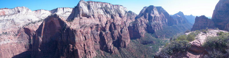 View of Zion Canyon from the top of Iron Messiah