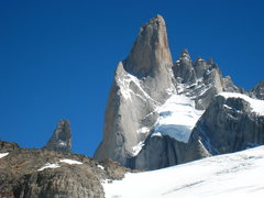 Rock Climbing Photo: The East Face of Poincenot. The Whillans Route fol...