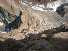 Rock Climbing Photo: Typical climbing on the upper part of the Whillans...