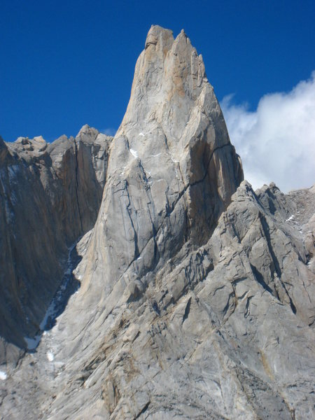 The West Face of St. Exupery. Last Gringos climbs near the right skyline.