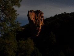 Rock Climbing Photo: The Tower in full enchantment illuminated by a nea...