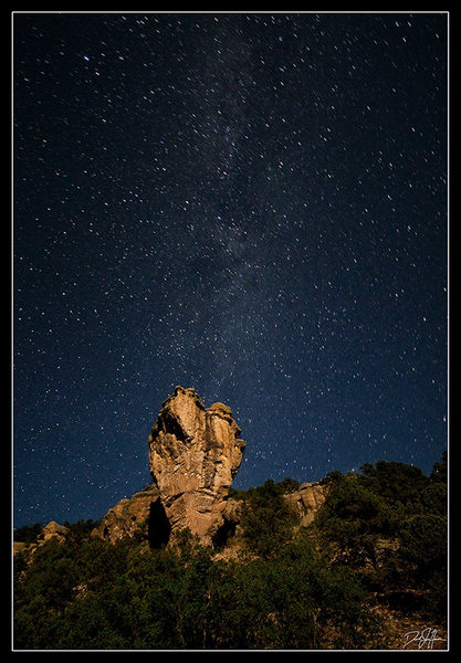 Rock Climbing Photo: Enchanted Tower at night in August.  flickr.com/th...