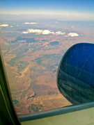 Rock Climbing Photo: Over the St. George area looking out toward Zion o...