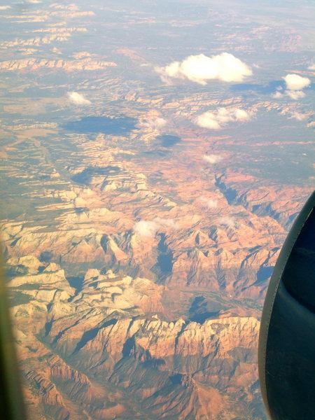 I love window seats. Zion, 9.29.09