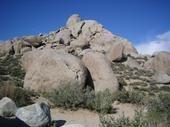 Here is the Buttermilk Bouldering Area in Bishop, CA