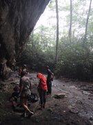 Rock Climbing Photo: Good place to take shelter