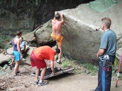 Rock Climbing Photo: Messn round