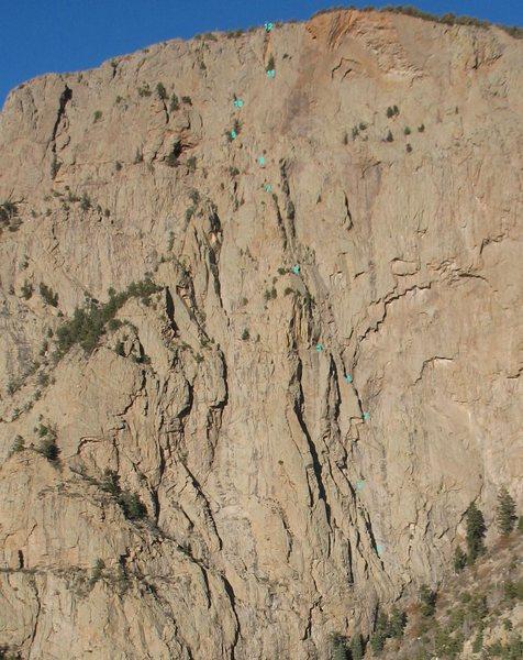 "Rock Climbing Photo: Procrastination, showing the left, ""standard&..."