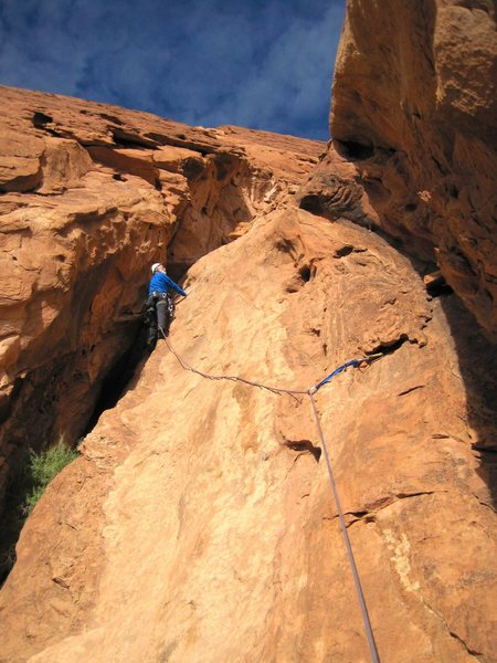 Rock Climbing Photo: Chris Bonington on Pitch 5