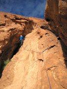 Rock Climbing Photo: Chris Bonington on Pitch 5