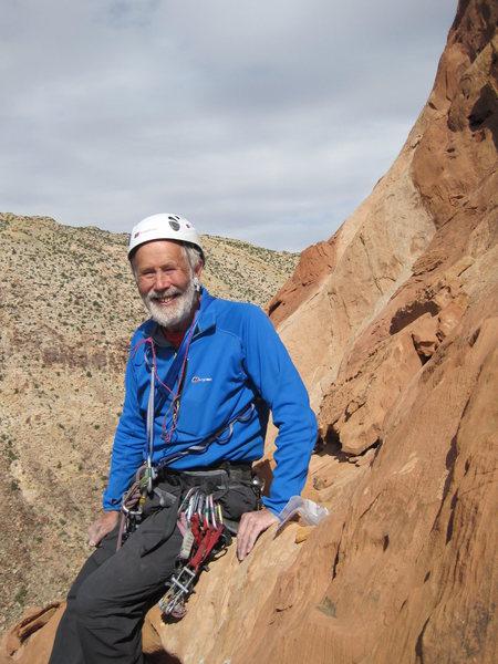 Chris Bonington on the summit.