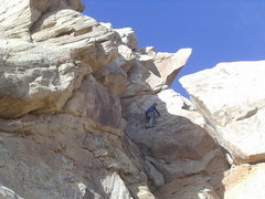 Rock Climbing Photo: Steve Rydach on second ascent of Knights Errant P2...