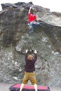 Rock Climbing Photo: Classic Lost Rocks problem