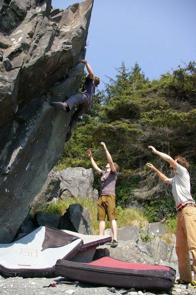 Rock Climbing Photo: Warm up boulder