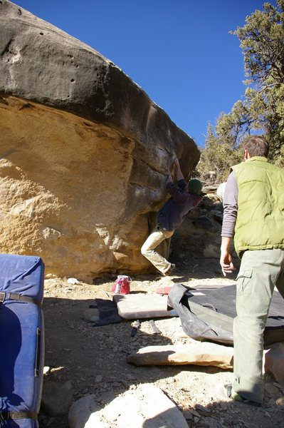 Rock Climbing Photo: (Moby Dick V6) Short but packs a punch!
