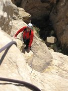 Rock Climbing Photo: Chris topping out on P2