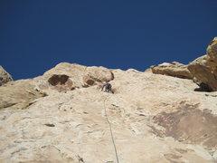 Rock Climbing Photo: Lance on Pitch three