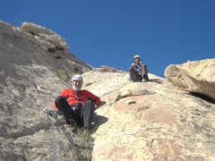 Rock Climbing Photo: Chris and Lance at the rappel