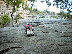 Rock Climbing Photo: 1st trad lead - Northern Pillar at the Gunks