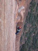 Rock Climbing Photo: Lee jugging.