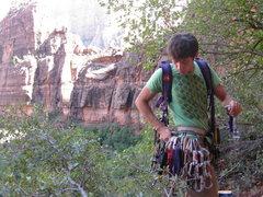 Rock Climbing Photo: Racking up.