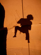 Rock Climbing Photo: sunset self caricature (2)