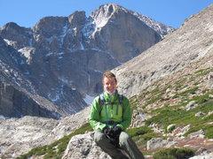 Rock Climbing Photo: The Diamond-Longs Peak 10-02-09