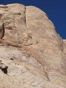 Rock Climbing Photo: Paul on pitch one. Photo Chris Bonington