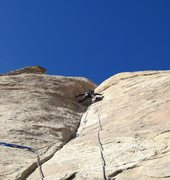 Rock Climbing Photo:  . Lance on second Pitch 5.11