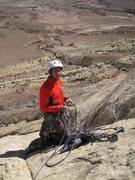 Rock Climbing Photo: Lance Bateman at the top of the 200'5.11 Pitch 2