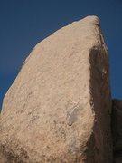 Rock Climbing Photo: Edge of Doom (5.10c), Joshua Tree NP