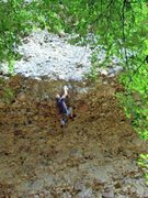Rock Climbing Photo: This is me (Matt Budd) on the crux of Crescent Moo...