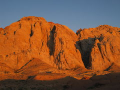 Rock Climbing Photo: The Triple Buttress at dawn... yes this is the tru...