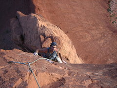 "Rock Climbing Photo: Darren ""sport-climbing"" on the last pitc..."