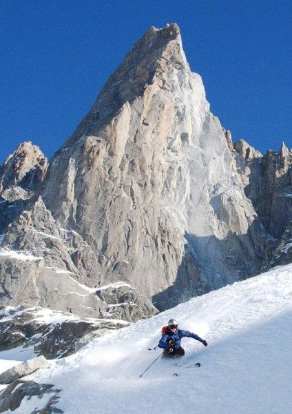 Rock Climbing Photo: Skiing Cham