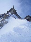 Rock Climbing Photo: Aiguille du Midi ridge