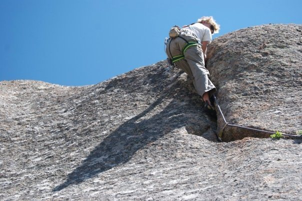 A short, fun .8 crack in vedauwoo