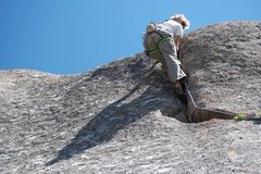 Rock Climbing Photo: A short, fun .8 crack in vedauwoo
