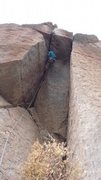 Rock Climbing Photo: Starting the dihedral. Photo taken by Jacy Jacobso...