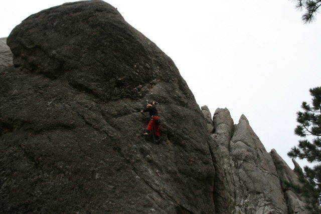 "Rock Climbing Photo: Shauna approaching the top of ""Don't Stahl&qu..."
