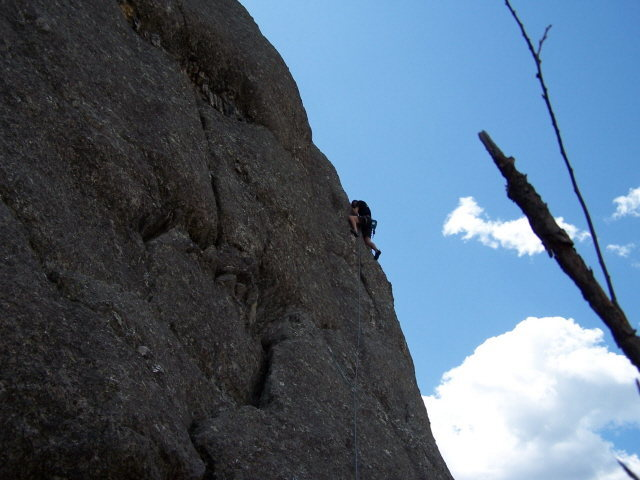 Rock Climbing Photo: Oregon's own Greg Coulter clipping his first Rushm...