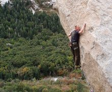 Rock Climbing Photo: The balancy crux