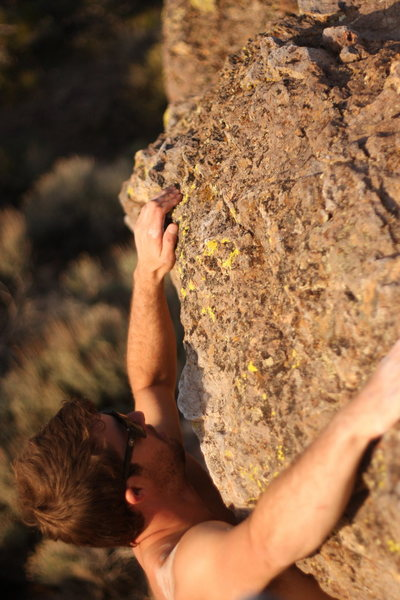 Rock Climbing Photo: The warm up wall has a few easy routes.