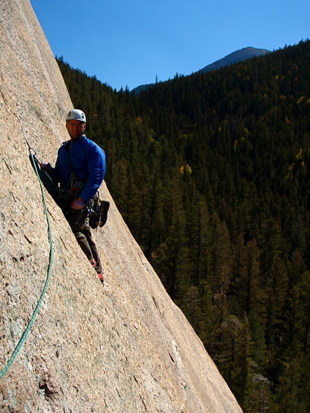Rock Climbing Photo: Josh Smith on the third pitch of Question of Balan...