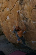 Rock Climbing Photo: move left from here