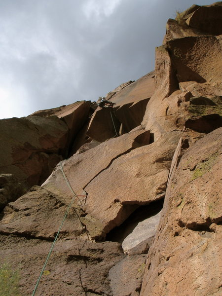 Rock Climbing Photo: Josh on Spearhead.